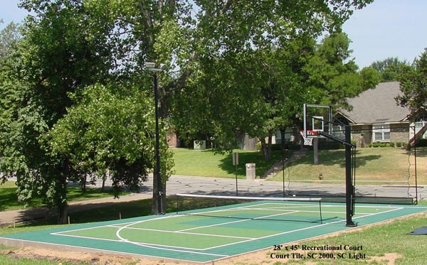 Backyard Basketball Court 15