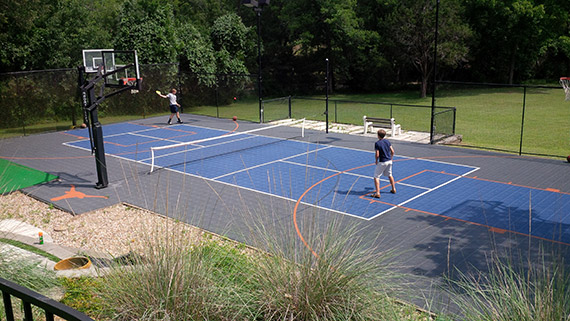 Houston pickleball courts sport court houston for Backyard multi sport court