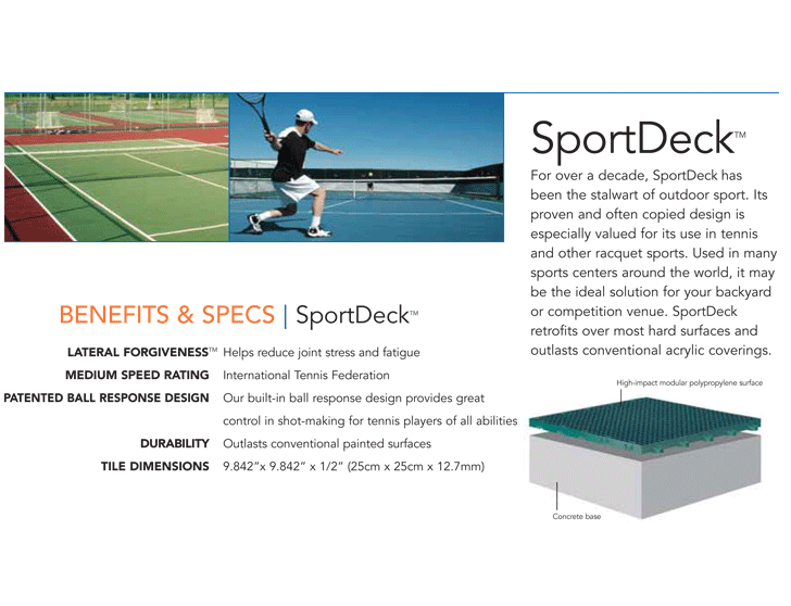 SportDeck Athletic Surfaces